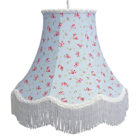 Floral lamp shades handmade to order blue rose floral print lamp shade aloadofball Image collections